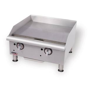 APW Wyott GGM-48I Champion 48in Gas Manual Griddle