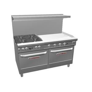 Southbend Ultimate 60 Range w/ 36 Manual Griddle & 2 Conv. Ovens - 4601AA-3G*