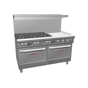 Southbend Ultimate 60 Range w/ 24 Manual Griddle & 2 Conv. Ovens - 4601AA-2G*
