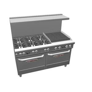 Southbend Ultimate Range w/ 24 Charbroiler, 6 Burners & 2 Conv. Ovens - 4601AA-2C
