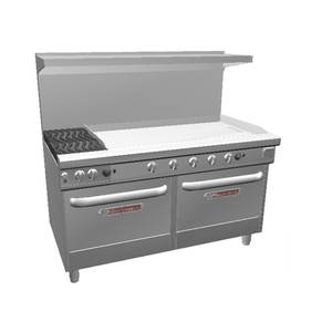 Southbend 4602DD-4T* Ultimate 60 Range w/ 48 Griddle, 2 Burners & 2 Std Ovens