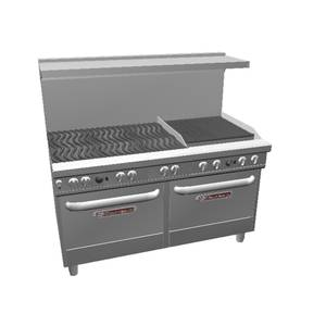 Southbend Ultimate Range w/ 24 Charbroiler, Wavy Grates & 2 Std Ovens - 4602DD-2C