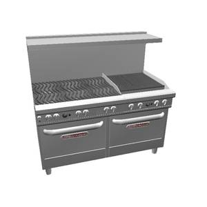 Southbend Ultimate Range w/ 24 Charbroiler, Wavy Grates & 2 Conv Oven - 4602AA-2C