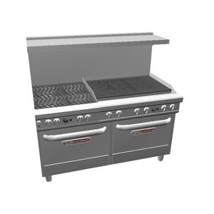 Southbend Ultimate Range w/ 36 Charbroiler, Wavy Grates & 2 Conv Oven - 4602AA-3C