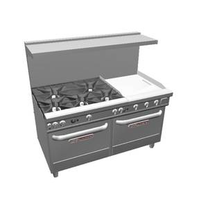 Southbend 4605AA-2T Ultimate 60 5 Burner Range w/ 24 Therm Griddle & 2 Conv.