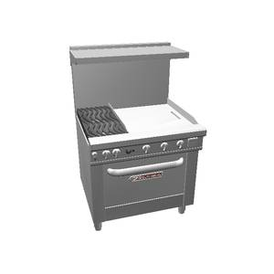 Southbend Ultimate 36 Gas Range w/ 24 Griddle, Std Oven & Wavy Grate - 4362D-2G*
