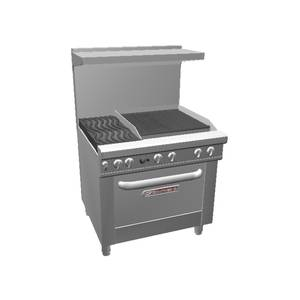 Southbend Ultimate 36 Range - 24 Charbroiler, Wavy Grates & Std Oven - 4362D-2C*