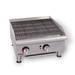 APW Wyott GCB-48IS Champion 48 Countertop Radiant Charbroiler w/ Safety Pilots