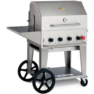 Crown Verity, Inc. 30in Stainless Outdoor Charbroiler Grill Package - LP - MCB-30PKG-LP