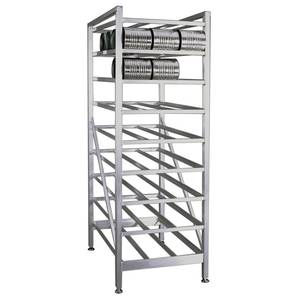 New Age Stationary Full Size Can Rack Holds (162) #10 Cans - 6259