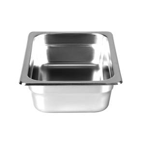 Thunder Group Steam Table Pan 1/4 Size 2.5 Deep 22 Gauge Stainless Steel - STPA6142