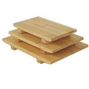 Thunder Group Medium Bamboo Sushi Plate 9.5 x 6 x 1.25 - WSPB002