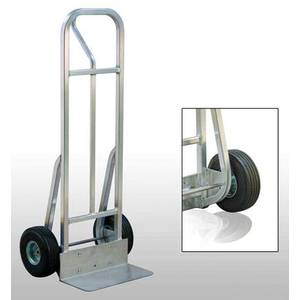 New Age Aluminum Hand Truck with 10 Pneumatic wheels - HT18P10