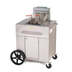 Crown Verity, Inc. Portable Propane Deep Fryer w/ 35-40lb. Fat Capacity - PF-1LP