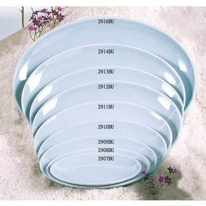 Thunder Group 2916 Melamine Platter Blue Jade 16 x 11.75 Set of 1 Dozen