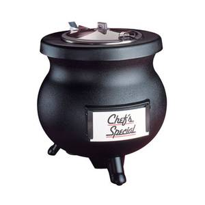 Tomlinson Industries Deluxe Frontier 12 Qt Soup Kettle Warmer Black 120v w/handle - 1006858