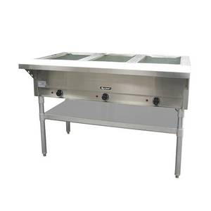 Adcraft ST Three Well Watt Steam Table With Cutting Board - Three well steam table