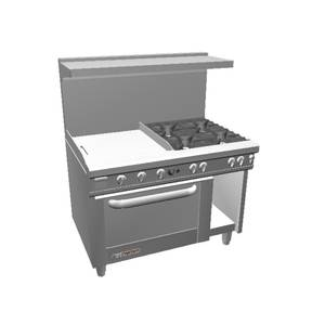 Southbend 48 S-Series Range w/ Convection Oven & 24 Therm. Griddle - S48AC-2T