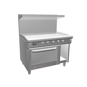 Southbend 48 S-Series Range w/ Convection Oven & 48 Man. Griddle - S48AC-4G