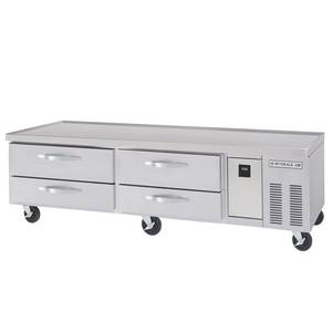 Beverage-Air 76in Four Drawer Refrigerated Chef Base Equipment Stand - WTRCS72-1-76