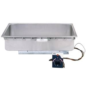APW Wyott Uninsulated 1 Well Hot Food Drop-In Top Mount w/ Drain - TM-90D