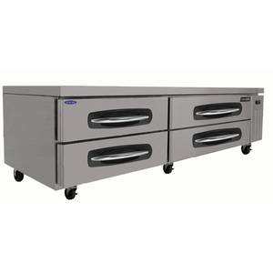 Nor-Lake 84in Four Drawer Refrigerated Chef Base Equipment Stand - NLCB84
