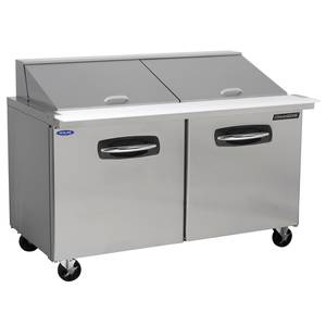 Nor-Lake 60.38in Two Door Mega Top Sandwich Refrigerated Counter - NLSMP60-24