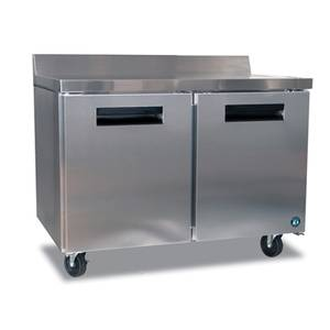 Hoshizaki 13.66cuft Two Door Worktop Reach-In Refrigerated Counter - CRMR48-W