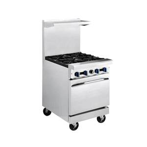 Market Forge 24in Stainless Steel Heavy Duty Range Gas 12in Griddle - R-R2G-12