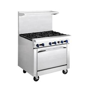Market Forge 36in Stainless Steel Heavy Duty Range Gas w/ 12in Griddle - R-R4G-12