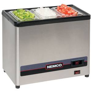 Nemco Countertop Cold Condiment Chiller with (2) 1/6 S/S Pans - 9020-2