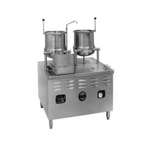 Market Forge One 6gal & One 10gal SS Tilting Kettle w/ 2/3 Steam Jacket - MT10T6