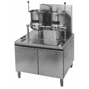 Market Forge Two 10gal SS Tilting Kettle 36in Cabinet Base Gas 300 MBTUH - MT10T10G300A