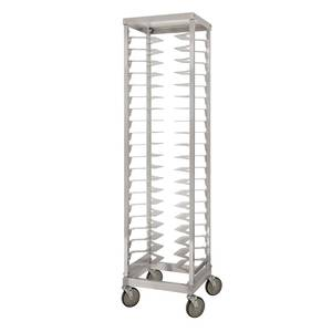 PVI Food Service Mobile Aluminum 20 Pan Pizza Single Rack 18in Pans - LPZ3018