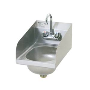 Eagle Group SS Wall Mount Hand Sink w/ Faucet, Basket Drain - HSAN-10-F-LRS-1X