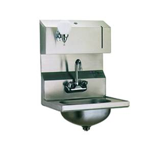 Eagle Group SS Wall Mount Hand Sink Faucet Towel & Soap Dispenser - HSA-10-FDP-1X