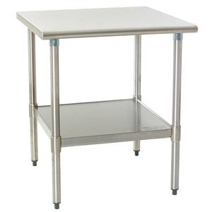 Eagle Group Deluxe Work Table 36in x 24in Stainless Steel Work Top - T2436SEB
