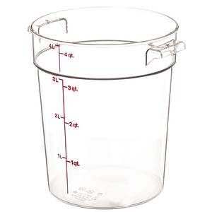 Cambro Round Storage Container Clear 4qt - RFSCW4135
