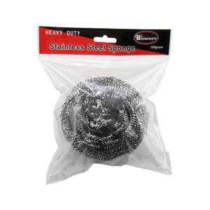 Winco 50g Stainless Steel Scouring Sponge - SPG50