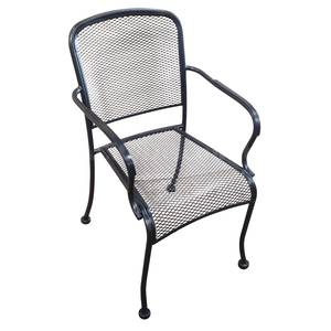 H&D Commercial Seating Outdoor Wrought Iron Stackable Arm Chair - MC19A