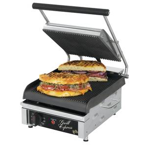Star 10 Two-Sided Sandwich Grill w/ Smooth Iron Grill Plates - GX10IS