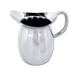 Winco Stainless Steel 3qt Deluxe Bell Pitcher Heavy Weight - WPB-3C
