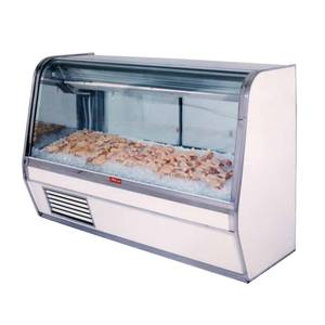 Howard McCray 50 Curved Glass Refrigerated Fish/Poultry Display Case - SC-CFS32E-4C
