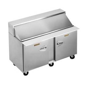 Traulsen 60in Refrigerated Sandwich Prep Table (12) Pan Left/Right - UPT6012-LR