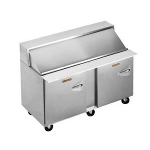 Traulsen 60in Refrigerated Sandwich Prep Table (24) Pan Left Hinge - UPT6024-LL