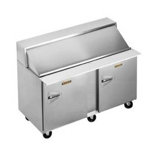 Traulsen 60in Refrigerated Sandwich Prep Table (24) Pan Right Hinge - UPT6024-RR