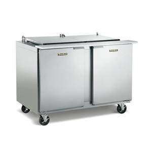 Traulsen 72 Refrigerated Sandwich Prep Table 12 Pan Flat Cover L/R - UST7212-LR