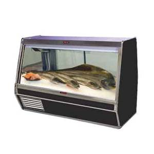 Howard McCray 50 Curved Glass Fish/Poultry Display Case Black Exterior - SC-CFS32E-4C-B