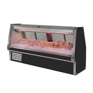 Howard McCray 124.5 Refrigerated Fish/Poultry Display Case Black Exterior - SC-CFS34E-10-B