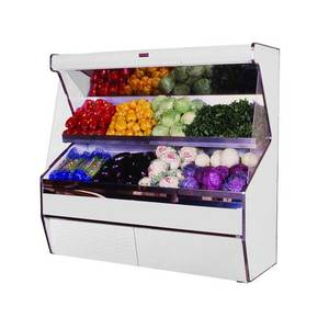 Howard McCray 50 Stainless Steel Refrigerated Produce Open Display Case - SC-P32E-4S-S